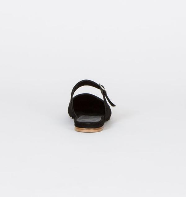 Creatures of Comfort Lucca Slip On Lamb Suede Shoe - BLACK