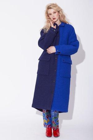 Kurt Lyle Loretta Coat - Cobalt Blue/Navy