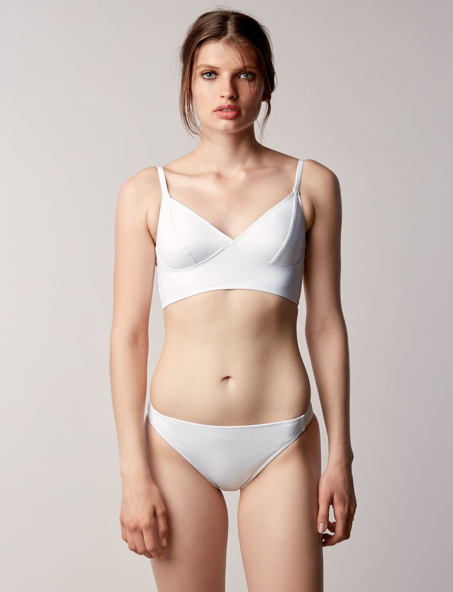 b441147a6bff1 Fortnight Swim Bikini Bottom - WHITE | Garmentory