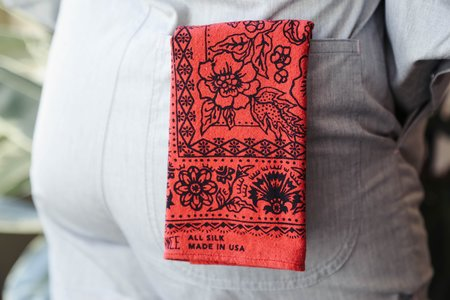 Last Chance Textiles Rosey Bandana - Madder Red
