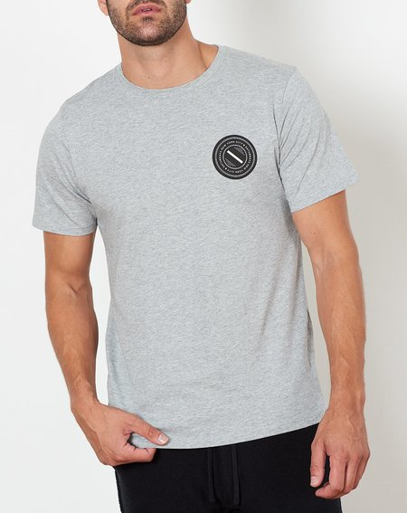 Saturdays NYC Chest Wave Patch Tee - Ash Heather