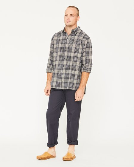 PERCY BUTTON DOWN - NAVY PLAID
