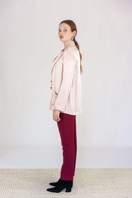 Xirena Jules Satin Jacket - Rose Quartz