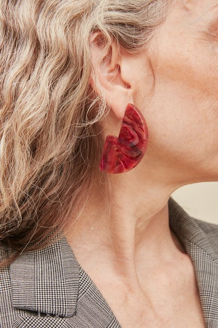 Rachel Comey Kip Earrings - Red Marble