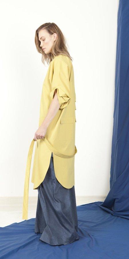 Schai Eclipse Artisan Shirtdress - Chartreuse