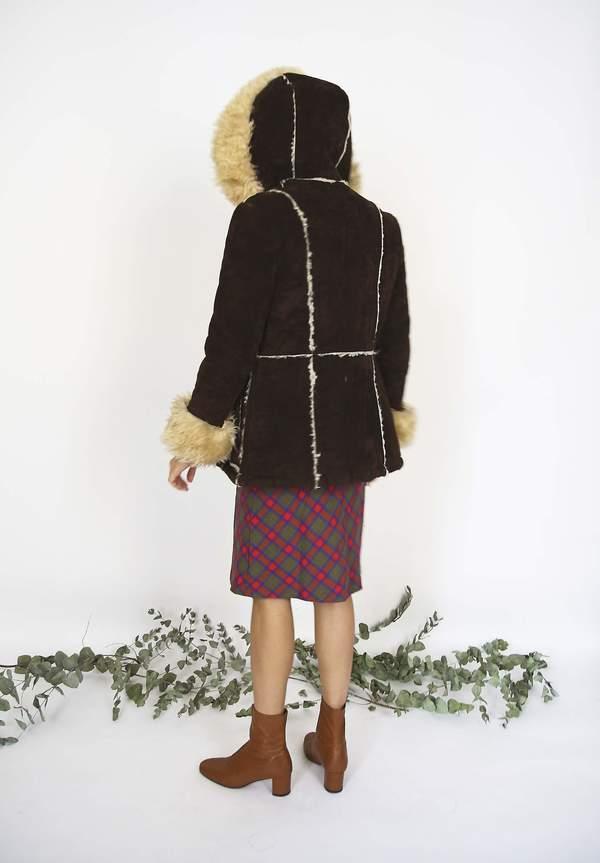 Bird On A Wire Vintage 70s Sheepskin Hooded Coat