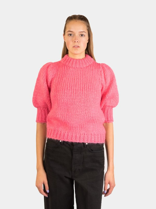 fb5bdcf3 Ganni The Julliard Mohair Sweater - Hot Pink | Garmentory