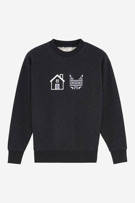 Kitsune Rebus Sweatshirt - Anthracite Melange
