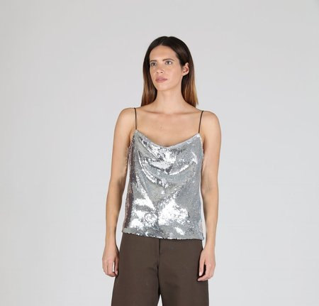Creatures of Comfort Gibson Top - SILVER