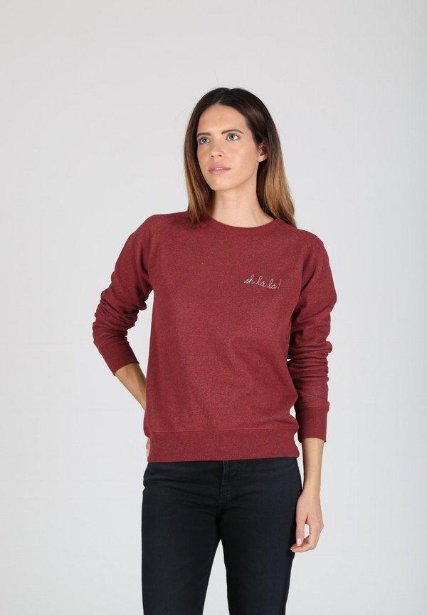 Maison Labiche Oh La La Sweatshirt - BURGUNDY