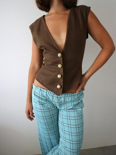 Vintage Valentino Vest - Brown