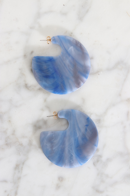 Rachel Comey Camille Earrings - Blue Marble