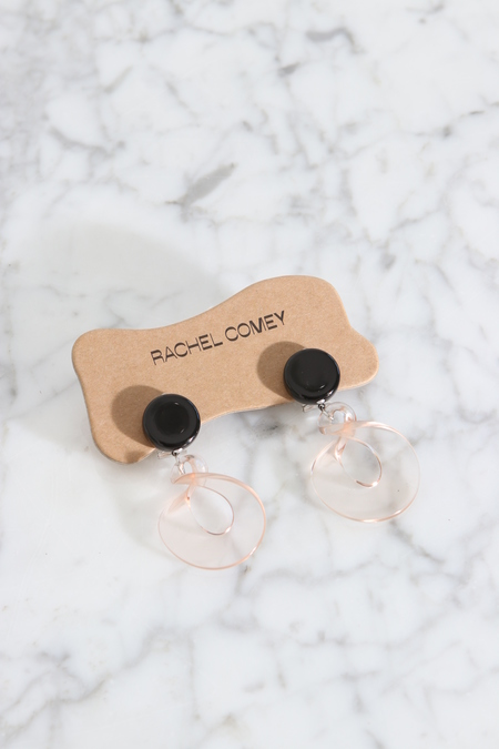 Rachel Comey Tract Earrings - Black/Clear