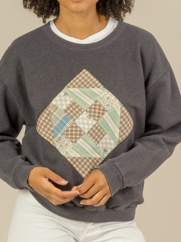 Carleen Patchwork Sweatshirt