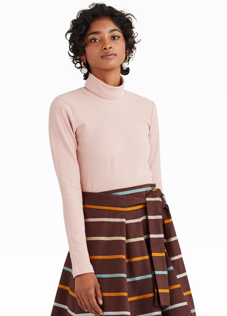 Kowtow Ribbed Turtleneck - Pink