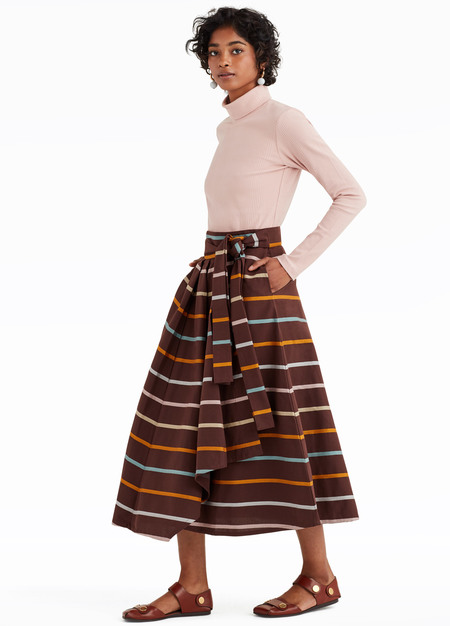 Kowtow Skylight Skirt - Stripes