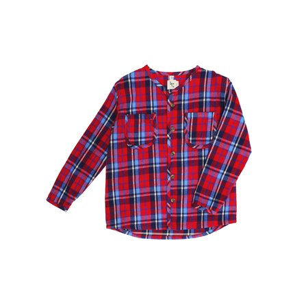 KIDS nico nico Becker Buttondown Shirt - Red Plaid