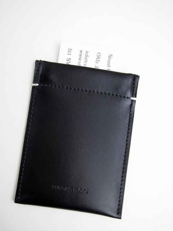 Building Block Card Sleeve - Black