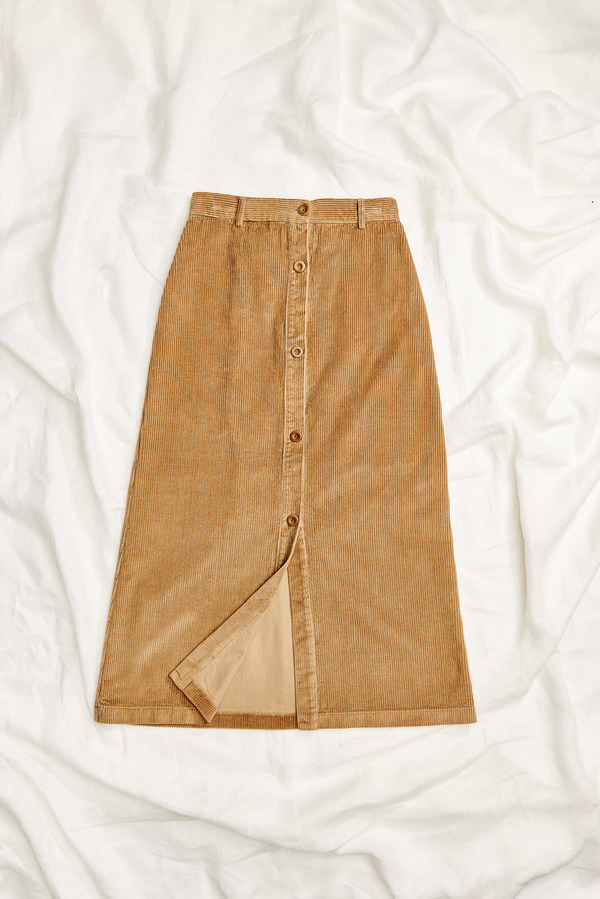 First Rite Button Skirt Corduroy