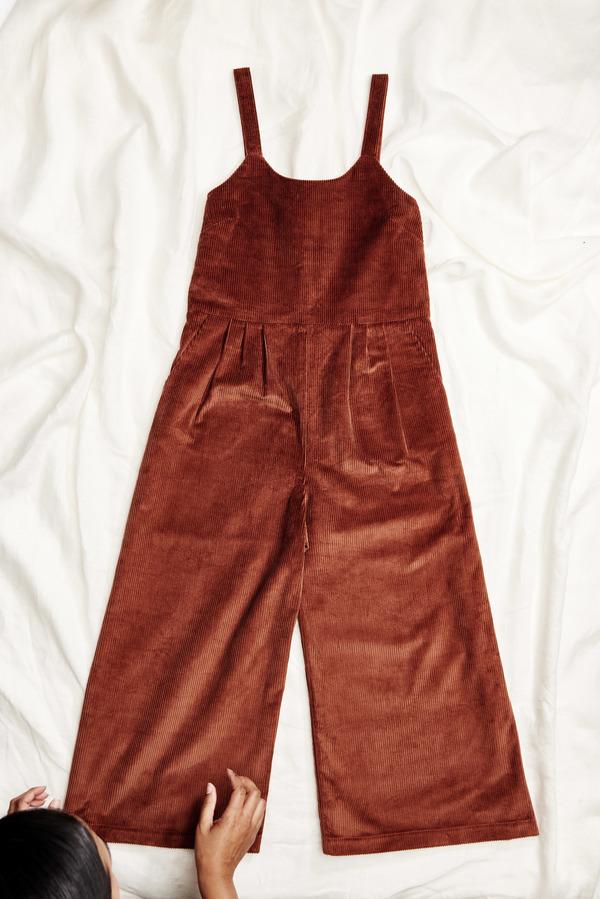 First Rite Crop Pantsuit Corduroy