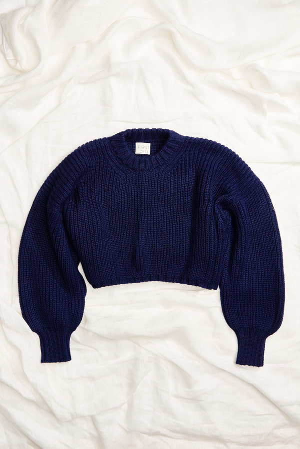First Rite Crop Crew Sweater