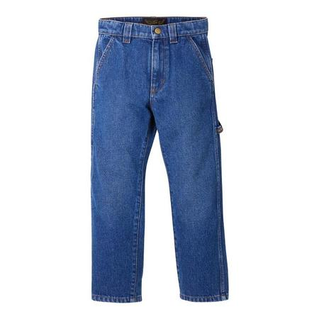 Kids Finger In The Nose Child Baggy Woven Pants - Eighties Blue
