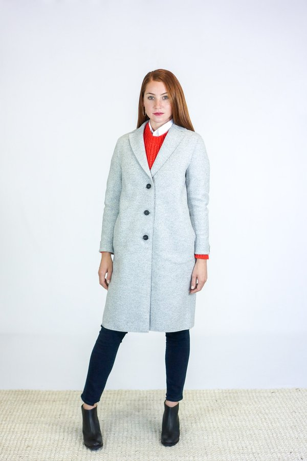 London Coat Wool Cocoon Harris Wharf MoulineGarmentory Ash Pressed 7yY6gbf