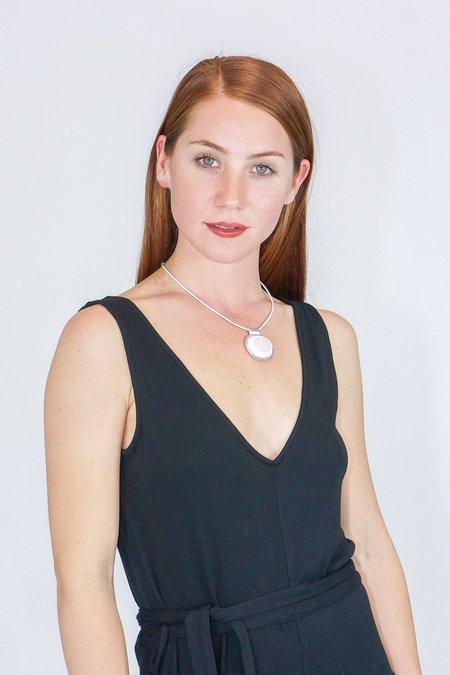 Robin Mollicone Beaded Rose Quartz Carina Necklace
