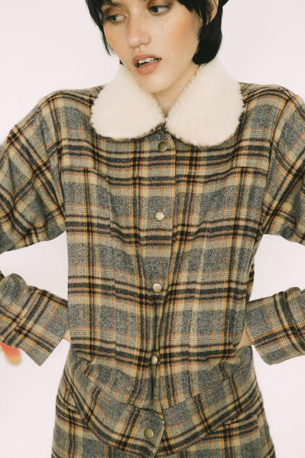 Lykke Wullf Cowboy Jacket W/ Sherpa Collar