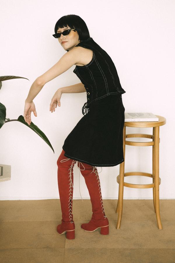 Lykke Wullf Lace Up Skirt