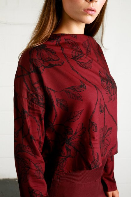 Native Youth INTRICATE ROSE BLOUSE - Rose Print