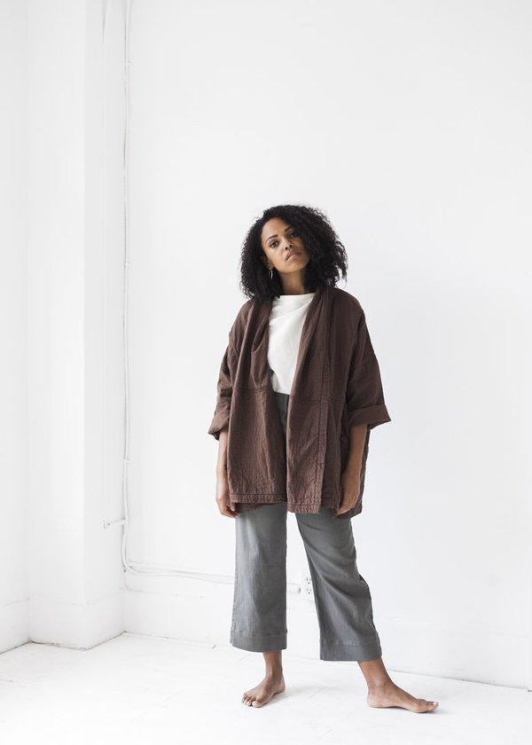 Atelier delphine haori coat - raw umber