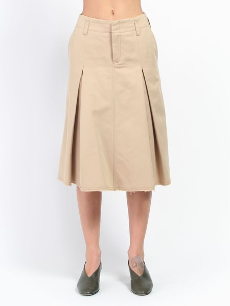 Hope Flirt Skirt - khaki