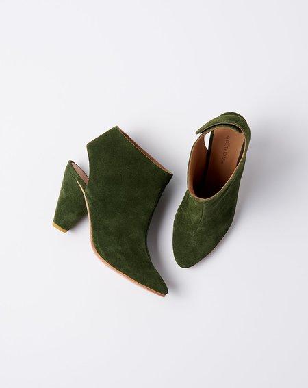 A Détacher Sinclair Boot - Dark Green Suede