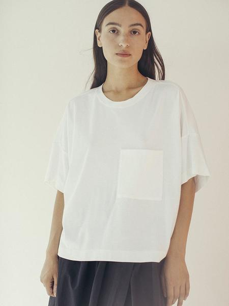 Suzanne Rae Boxy Pocket T-Shirt - White