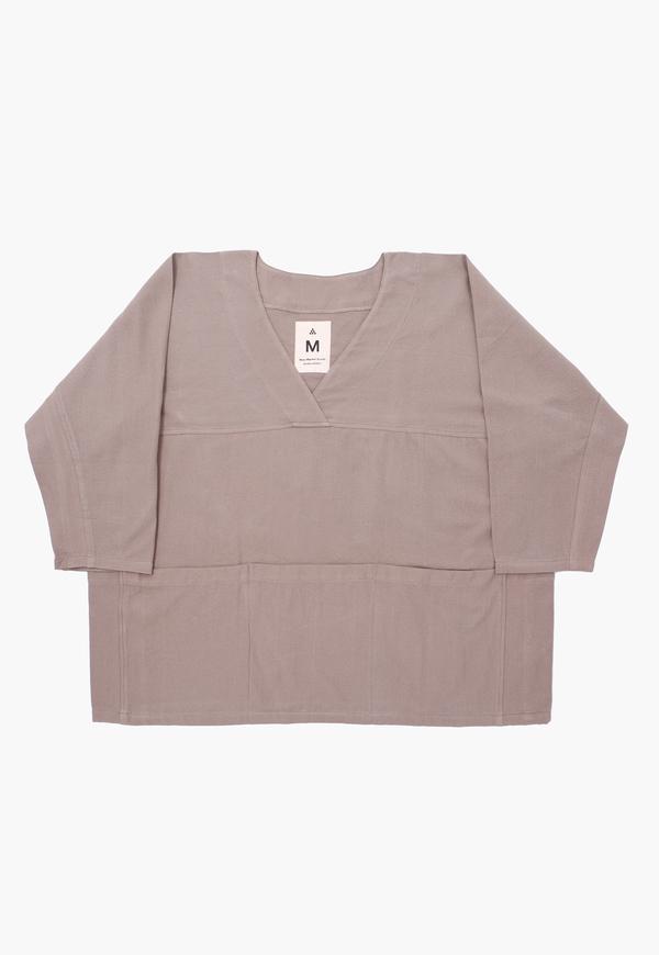 Deshal Canvas Pocket Smock top - Gray