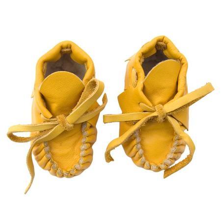 Kids Manimal Moccasins Baby Booties - Marigold Yellow