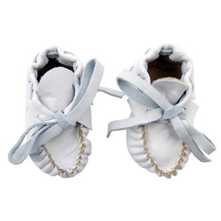Kids Manimal Moccasins Manimal Booties - Soft White