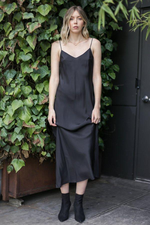 Beautiful People Long Silk Slip Dress Black Garmentory
