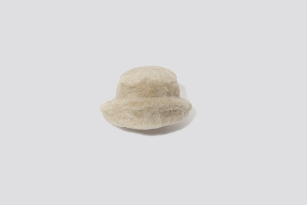 e5c06350f91 Clyde Fur Bucket Hat - Ecru