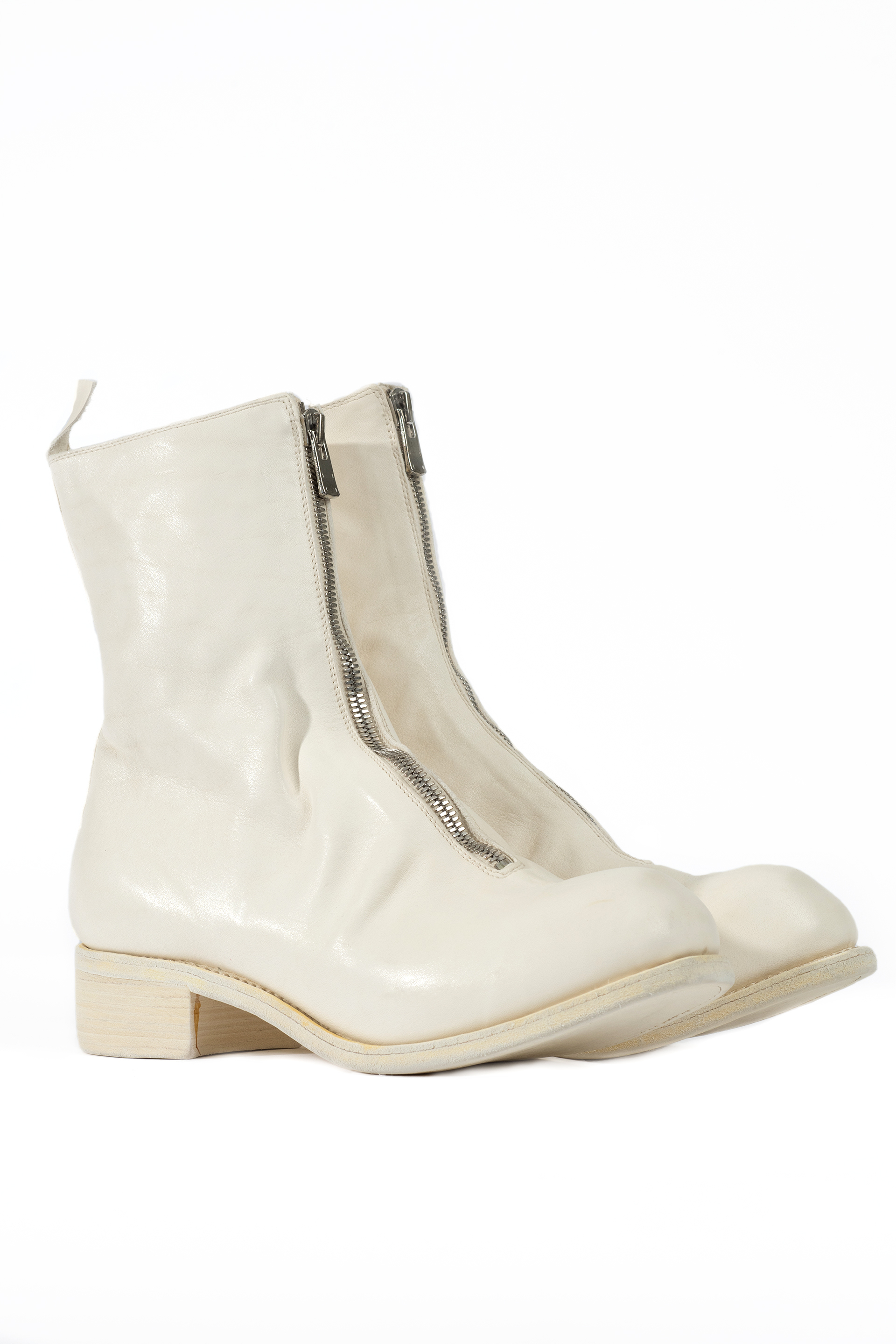 Guidi PL2 Front Zip Boots - White