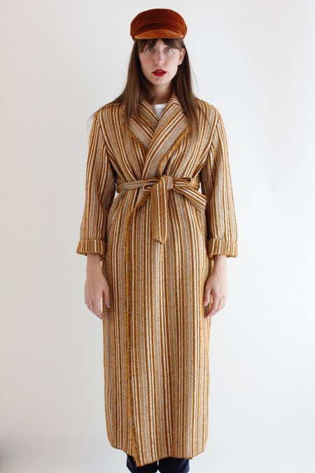 Giada Forte Stripe Coat - Ochre