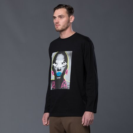 Gustav Von Aschenbach Gustav Graphic Long Sleeve Tee - Black