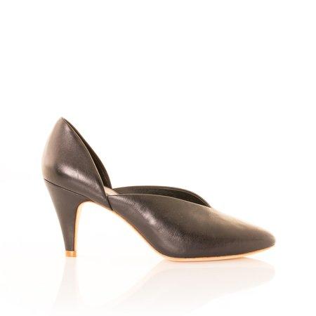 Charlotte Stone Pumps - Black