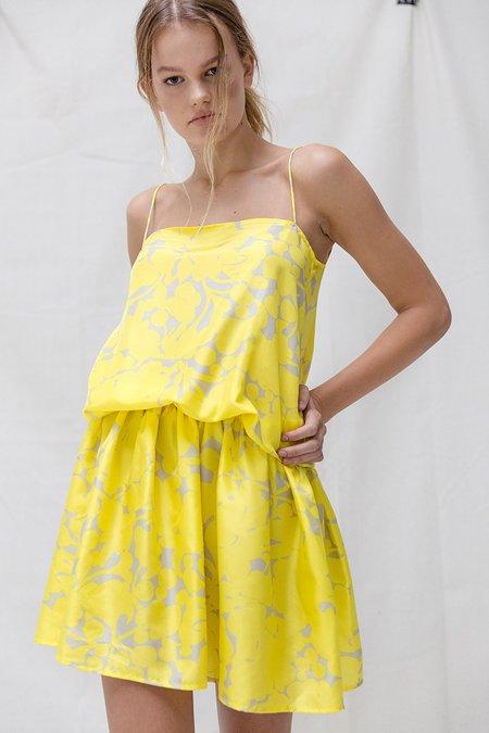 IDAE Manipura Dress - Yellow Print