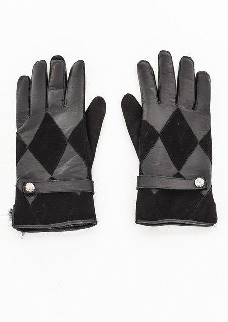 Unisex Berenik Leather Gloves - Black