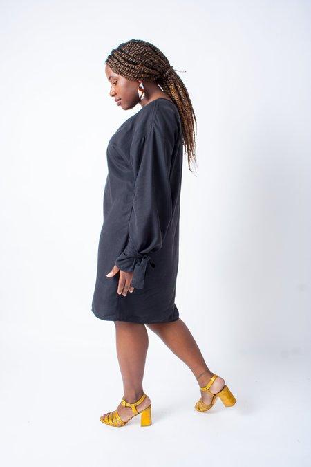 Hackwith Design House Arm Tie Smock Dress - Black