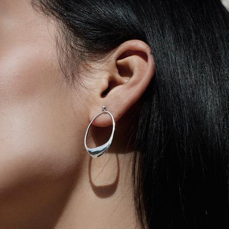 BAR JEWELLERY DIP EARRINGS - Silver