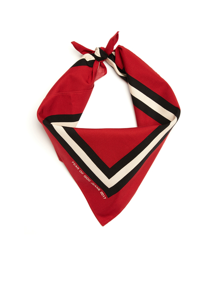 Fear of God Printed silk blend bandana - RED