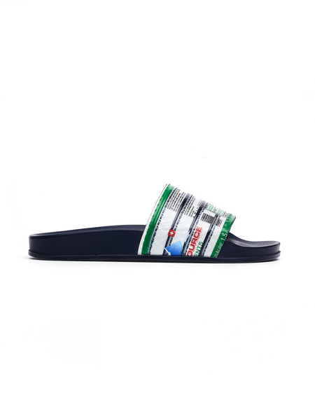 Vetements Printed Slides - Navy Blue